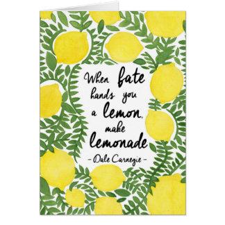 Hagamos la limonada felicitación