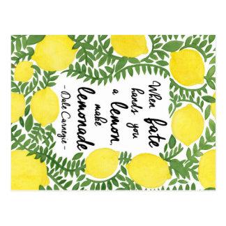 Hagamos la limonada postales