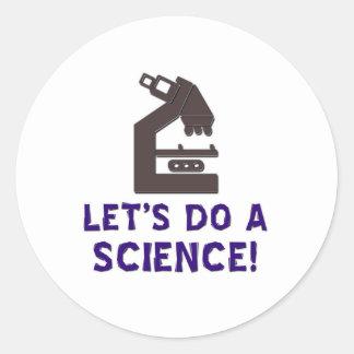 ¡Hagamos una ciencia! Etiquetas Redondas