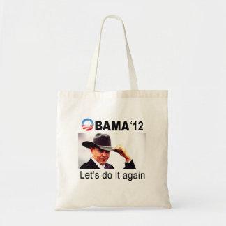 ¡Hagámoslo otra vez! Vaquero Barack Obama 2012 Bolsas Lienzo