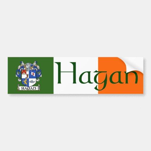 Hagan Coat of Arms Bumper Sticker