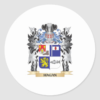 Hagan Coat of Arms - Family Crest Classic Round Sticker