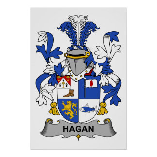 Hagan Family Crest Print