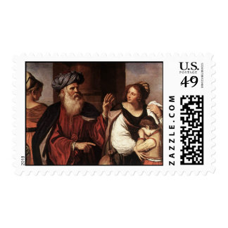 Hagar and Ishmael Banished by Abraham 2 Postage