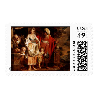 Hagar and Ishmael Banished by Abraham Postage