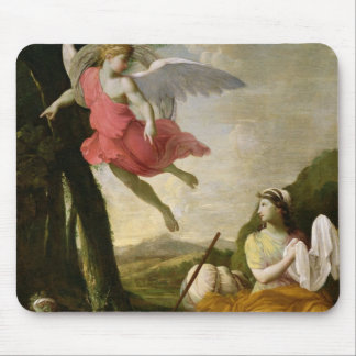 Hagar and Ishmael Rescued by the Angel, c.1648 Mouse Pad