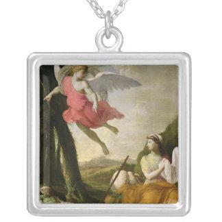 Hagar e Ishmael rescatados por el ángel, c.1648 Colgante Cuadrado