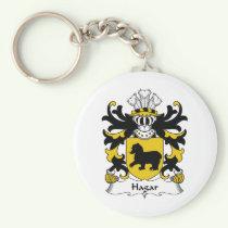 Hagar Family Crest Keychain