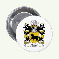 Hagar Family Crest Button