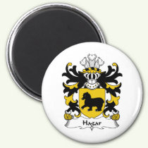 Hagar Family Crest Magnet