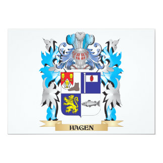 Hagen Coat of Arms - Family Crest 5x7 Paper Invitation Card