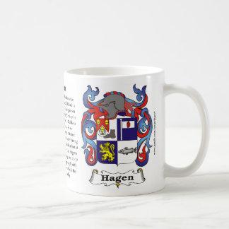 Hagen Family Coat of Arms Mug