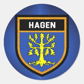 Hagen Flag Classic Round Sticker