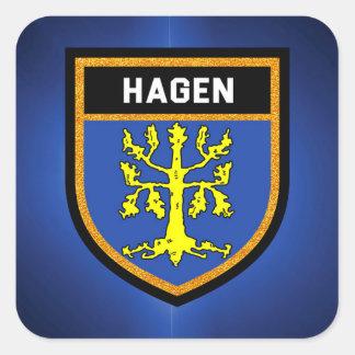 Hagen Flag Square Sticker