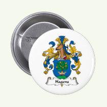 Hagens Family Crest Button