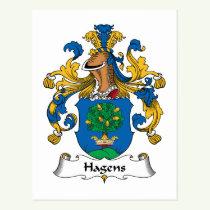 Hagens Family Crest Postcard