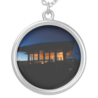 Hager Mountain Fire Lookout Round Pendant Necklace