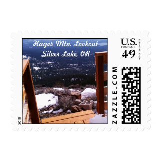 Hager Mountain Lookout Silver Lake Oregon Postage Stamp