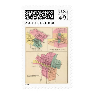 Hagerstown, Annapolis, Frederick City Postage Stamps