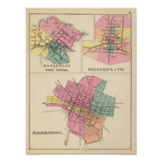 Hagerstown, Annapolis, Frederick City Poster