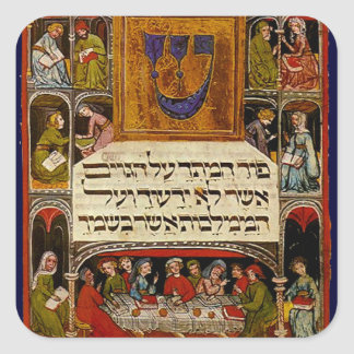 Haggadah del Passover Pegatina Cuadrada