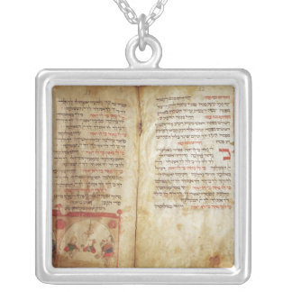 Haggadah for the Eve of Passover Square Pendant Necklace