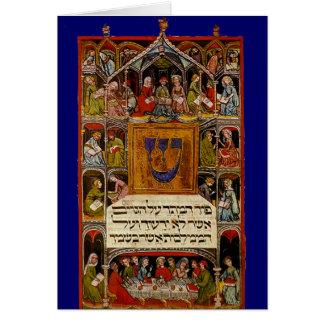 Haggadah iluminado siglo XIV Tarjeta De Felicitación