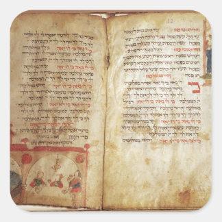 Haggadah para el Eve del Passover Calcomania Cuadradas Personalizadas