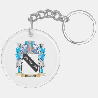 Haggar Coat of Arms - Family Crest Double-Sided Round Acrylic Keychain