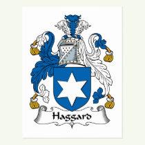 Haggard Family Crest Postcard