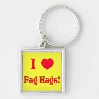 Haggard Silver-Colored Square Keychain