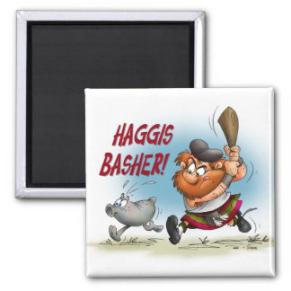 Haggis Basher 2 Inch Square Magnet