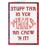 Haggis Funny Birthday card