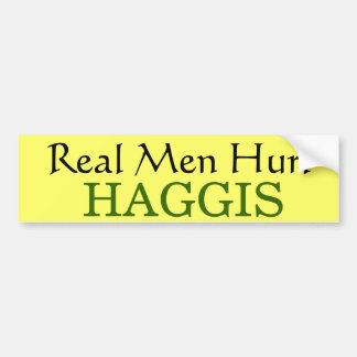 Haggis-Manly Food, Fun and Games from Scotland Bumper Sticker