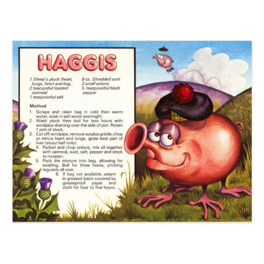 Haggis Recipe Postcard | Zazzle.com