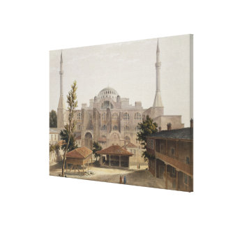 Haghia Sophia, Constantinople, pub. 1852 (colour l Canvas Print