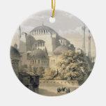 Haghia Sophia, placa 19: vista exterior del mosq Adorno Navideño Redondo De Cerámica