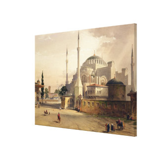 Haghia Sophia, plate 17: exterior view of the mosq Canvas Print