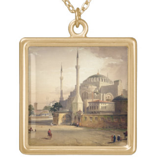 Haghia Sophia, plate 17: exterior view of the mosq Gold Plated Necklace
