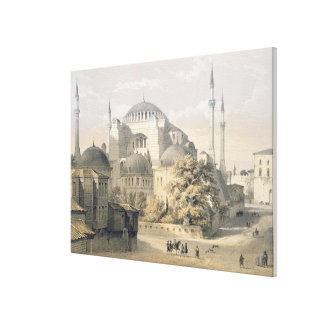 Haghia Sophia, plate 19: exterior view of the mosq Canvas Print