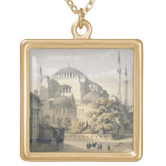 Haghia Sophia, plate 19: exterior view of the mosq Gold Plated Necklace
