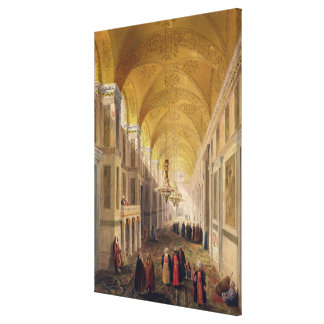 Haghia Sophia, plate 2: the narthex, engraved by L Canvas Print