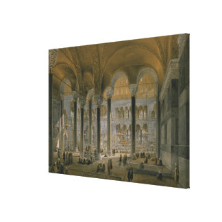Haghia Sophia, plate 6: the north nave, engraved b Canvas Print