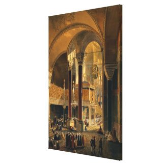 Haghia Sophia, plate 8: the Imperial Gallery and b Canvas Print