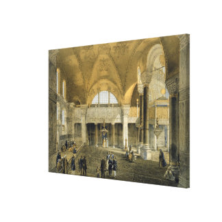 Haghia Sophia, plate 9: the new Imperial Gallery, Canvas Print