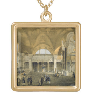 Haghia Sophia, plate 9: the new Imperial Gallery, Gold Plated Necklace