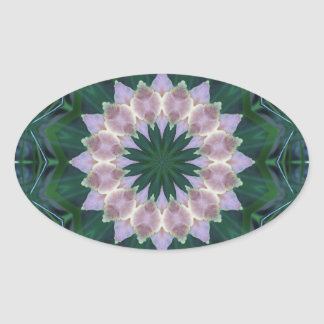 Hagi Mandala Eye oval sticker