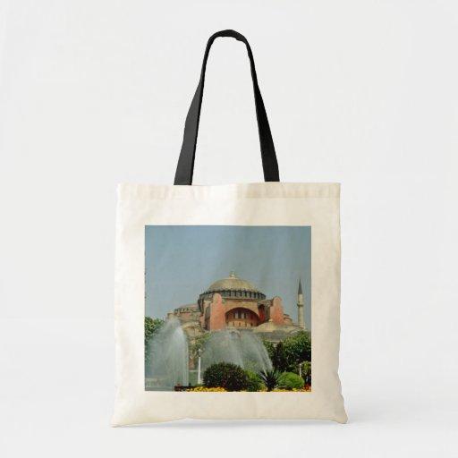 Hagia amarillo Sophia, catedral bizantina y churc Bolsas De Mano