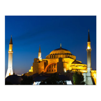 Hagia Sophia at twilight Postcard