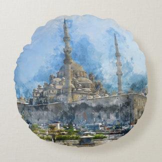 Hagia Sophia in Istanbul Turkey Round Pillow